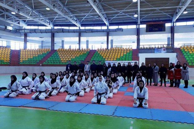 رقابت های کاراته المپیاد استعدادهای برتر کشور در سنندج شروع شد