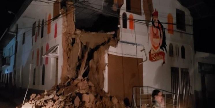 زلزله 8 ریشتری در پرو، یک نفر کشته و ده ها خانه تخریب شده است