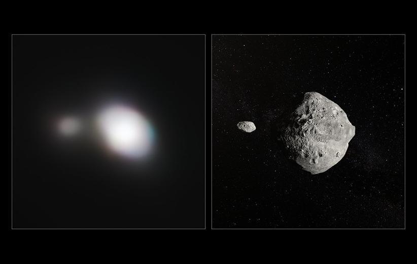تصویر جذاب تلسکوپ VLT از یک سیارک دوتایی نزدیک به زمین
