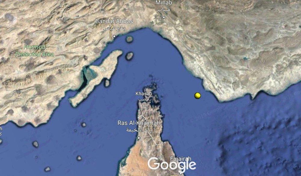 ظریف مختصات محل هدف قرار دریافت پهپاد آمریکا را اعلام کرد، جایی در نزدیکی کوه مبارک