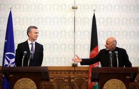 گفتگوی تلفنی دبیرکل ناتو و رئیس جمهور افغانستان