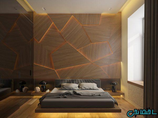10 طرح از دیوارپوش چوبی لوکس
