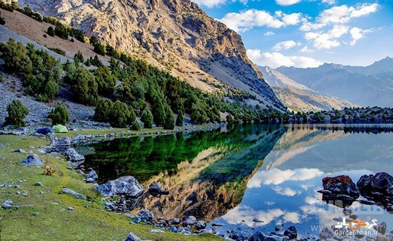 دریاچه اسکندرکول از دیدنی های منحصربفرد تاجیکستان، عکس