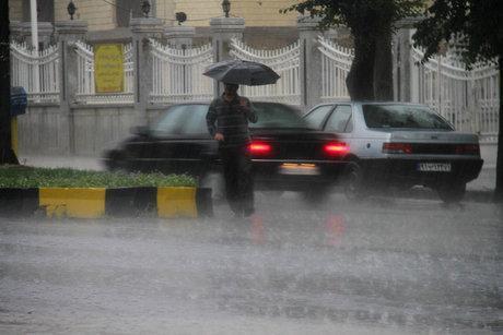 هشدار هواشناسی نسبت به وقوع رگبار و وزش باد نسبتا شدید