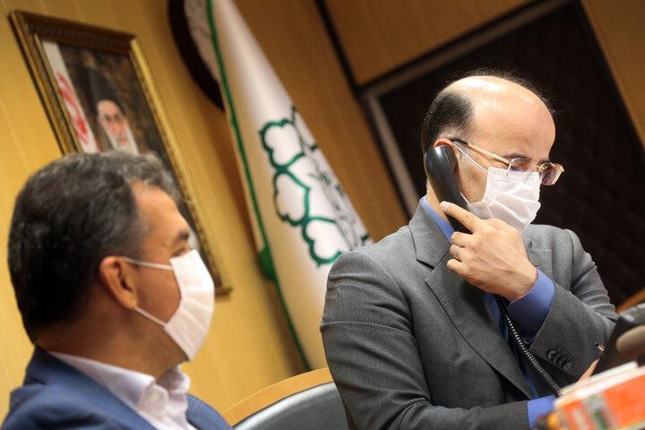 ارتباط تلفنی شهردار منطقه 6 با شهروندان