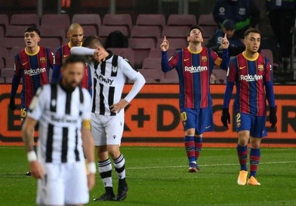 پیروزی بارسلونا با تک گل مسی