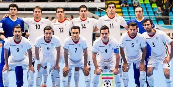 فوتسال ایران همچنان در رده ششم دنیا و اول آسیا
