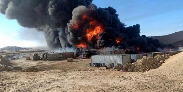 خبرنگاران انفجار در پایگاه های ائتلاف سعودی در شهر مأرب یمن
