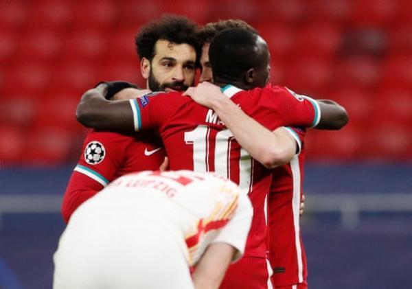 لیورپول 2 - لایپزیش 0؛ صعود به جمع هشت تیم با درخشش صلاح و مانه