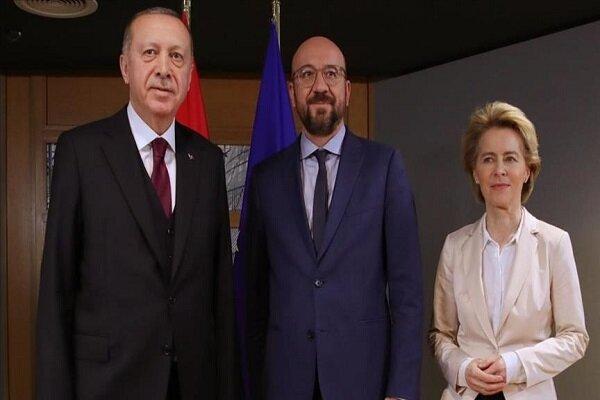 گفتگوی مجازی اردوغان با مقامات ارشد اتحادیه اروپا