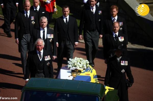 (تصاویر) مراسم خاکسپاری همسر ملکه انگلیس
