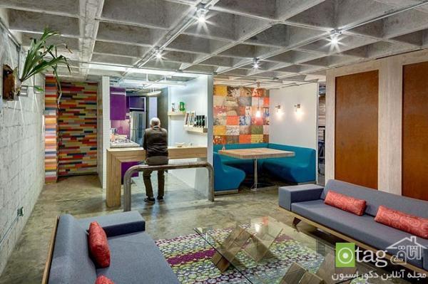 نمونه ای بسیار زیبا و البته عجیب از طراحی یک آپارتمان شیک